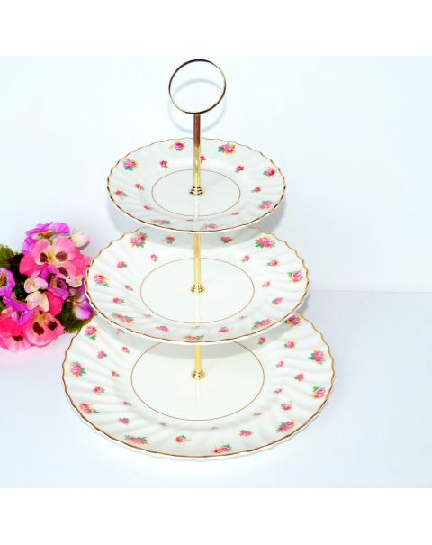 (OUT OF STOCK) ROYAL DOULTON ROSES CAKE STAND